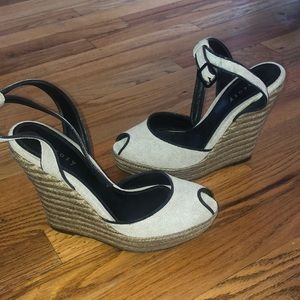 Theory Wedge Sandals sz 38 made in Spain